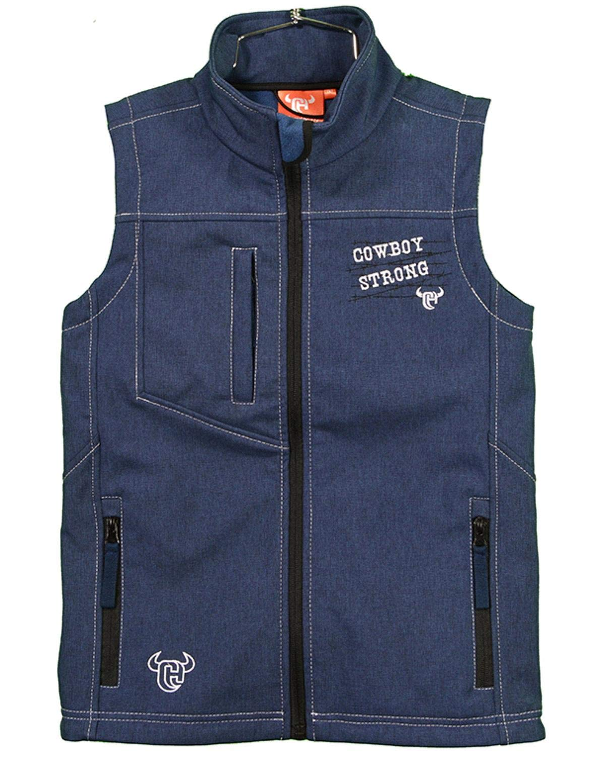 Cowboy Hardware Boys Strong Poly Shell Vest Navy X-Small by Cowboy Hardware