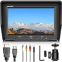 Neewer NW708-M 7 Zoll Kamera Feld-Monitor mit VGA/AV/ HDMI-Eingang IPS-Schirm 800: 1 Kontrast 800x480 Hohe Auflösung für DSLR-Kameras und Camcorder (Netzanschluss und Batterien Sind Nicht Enthalten)