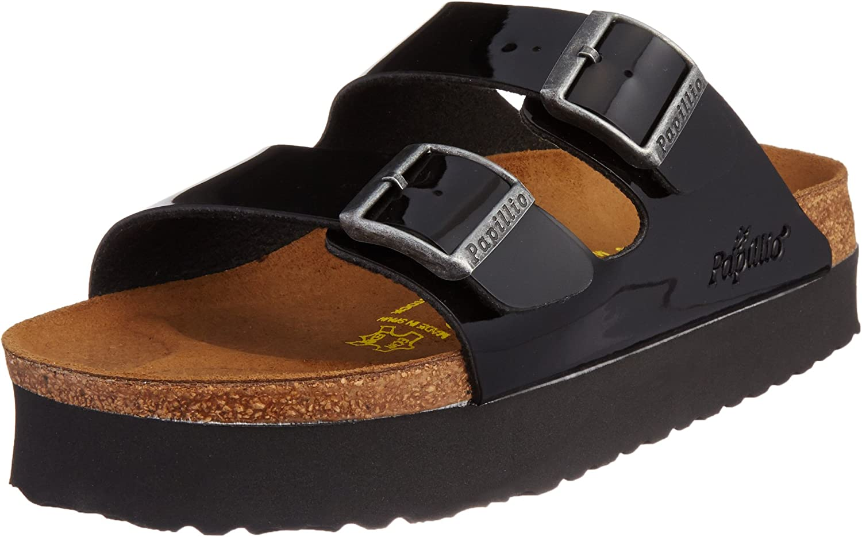 Papillio by Birkenstock Arizona, Women's Sandals, Black (Vernis Noir), 37 Slim EU