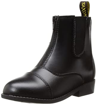 Amazon.com: Saxon Girls Equileather Zip Front Boots, Black, Child ...