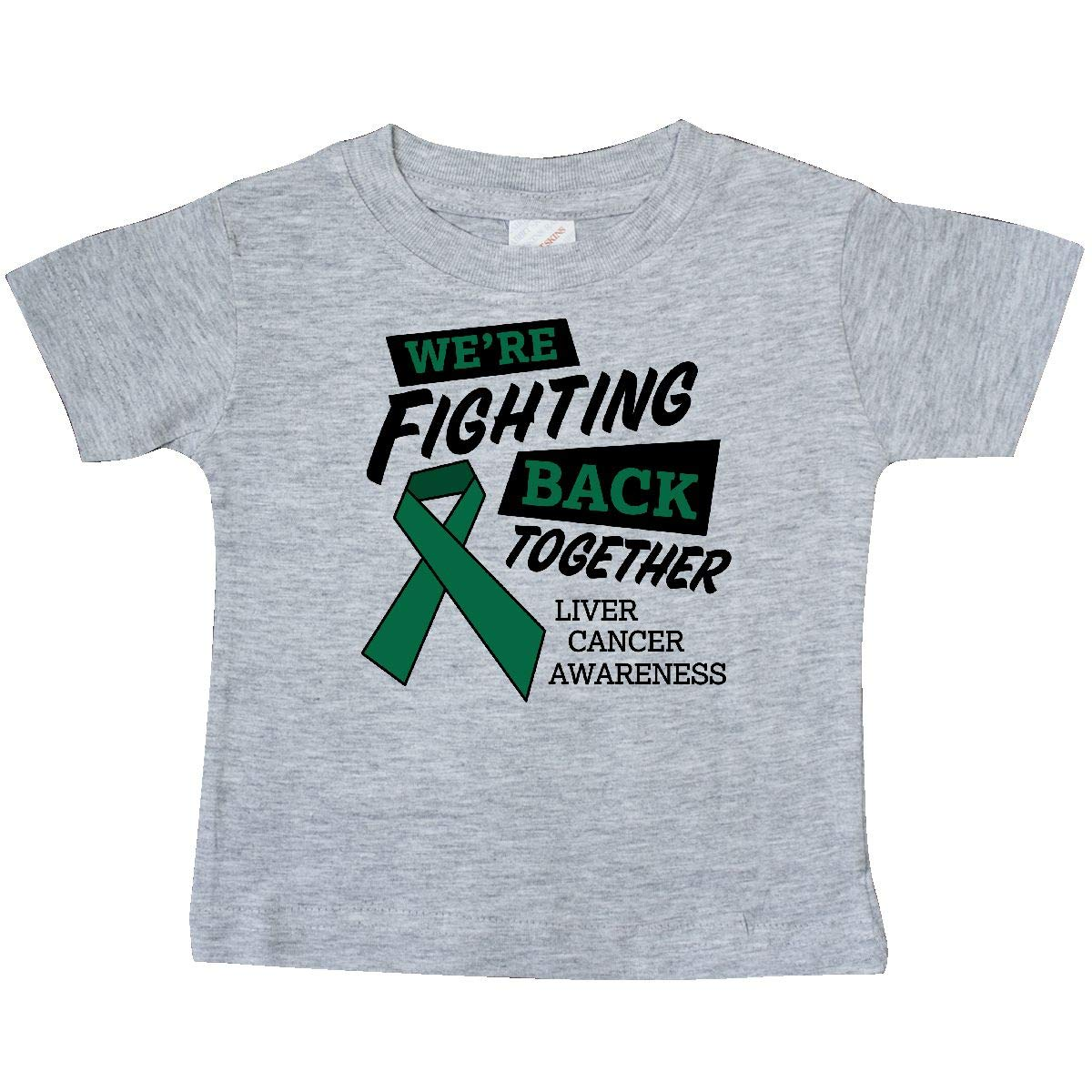 inktastic Were Fighting Back Together Liver Cancer Awareness Baby T-Shirt