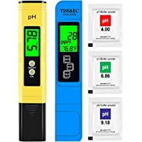 Hofun PH Meter & TDS Meter Combo, Upgraded Backlight PH TDS EC & Temperature 4-in-1 Water Quality Tester, High Accuracy…