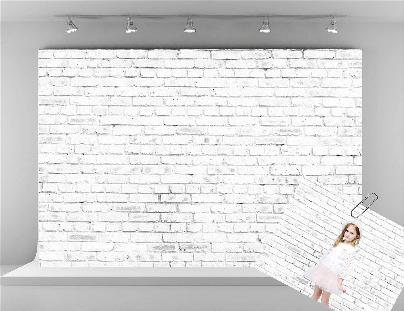 Kate 10x6.5ft Wedding Photo Green Backdrop Microfiber Brick Wall Spring Photography Background Child Personal Photo Backdrops