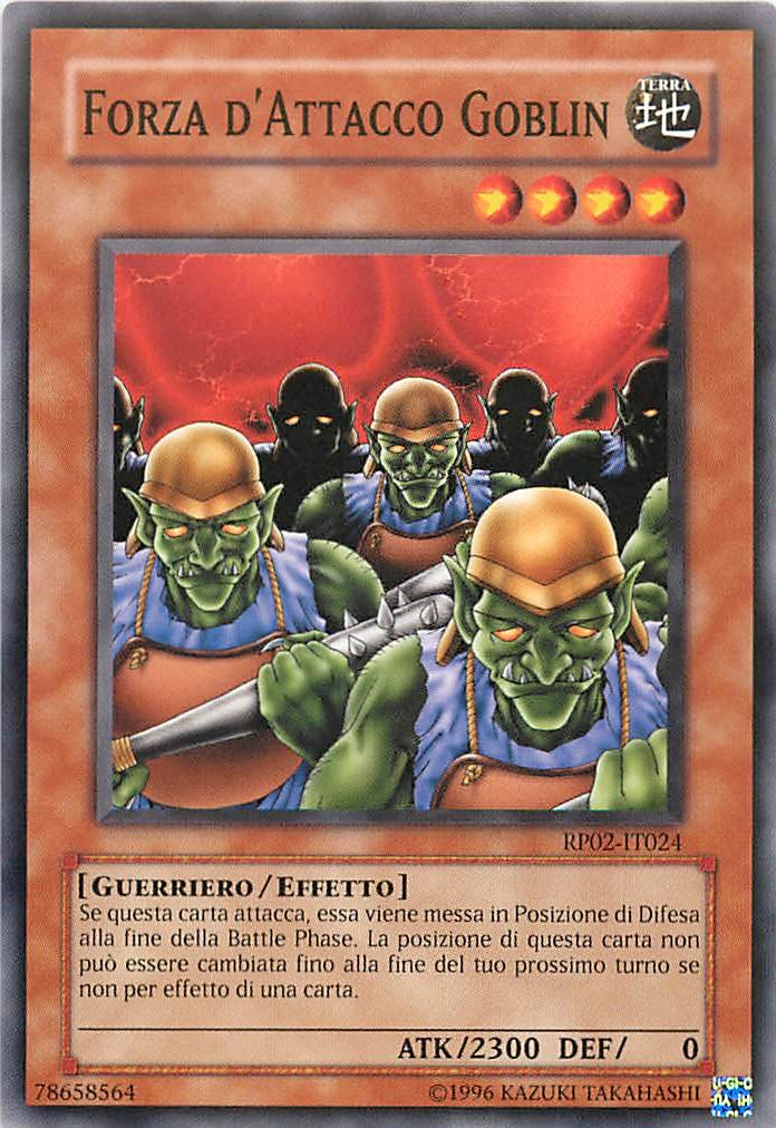 Retro Pack 2 RP02-IT024 Yu-Gi-Oh! Comune Forza Dattacco Goblin Unlimited Edition