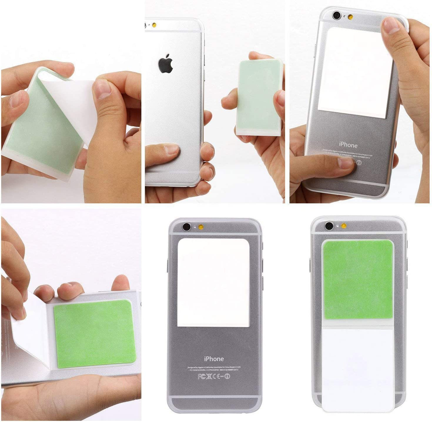 Stick Your Device to Any Flat 3 Packs Nano Suction Phone Holder