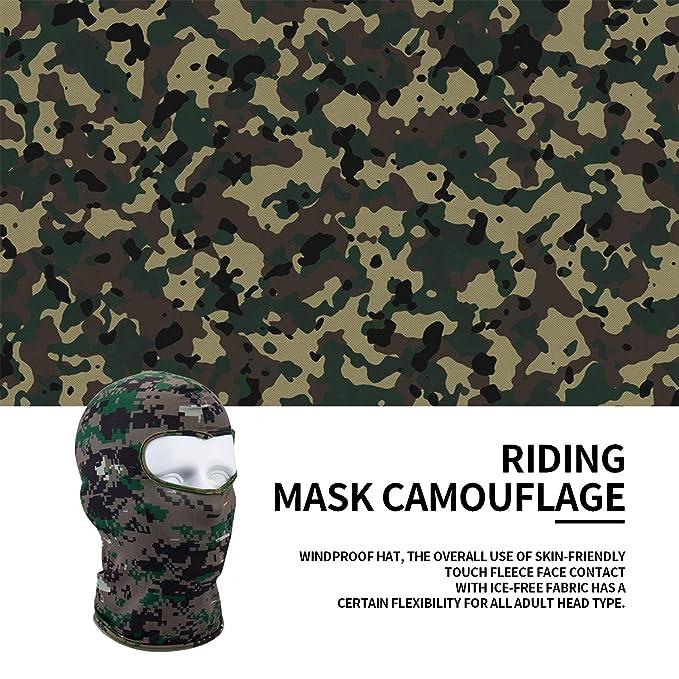 FairytaleMM Camouflage Winter Fleece Warm Full Face Cover Antipolvo Resistente al Viento M/áscara de esqu/í Snowboard Hood Antipolvo Bike Balaclavas Scarf Camuflaje