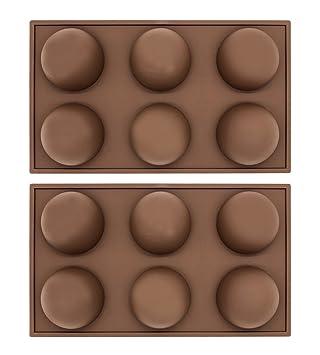 6 Cavities - Molde de silicona para cáñamo de media esfera, 2 unidades, tamaño grande: Amazon.es: Hogar
