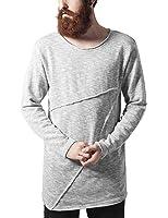 Urban Classics Herren Sweatshirt Fashion Long Terry Crew