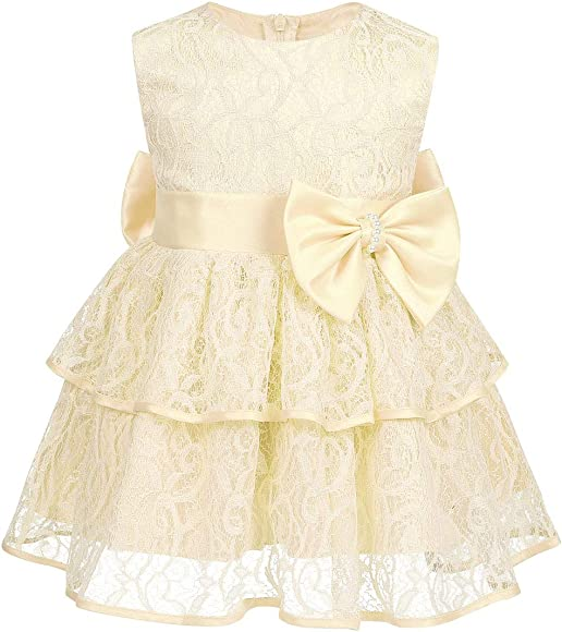 IEFIEL Vestido de Fiesta Boda Bebé Niña Vestido Princesa ...