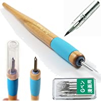 Tachikawa Comic Pen Nib Holder(T-40) + Zebra Comic G Model Chrome Pen 10 Nibs(PG-6C-C-K)