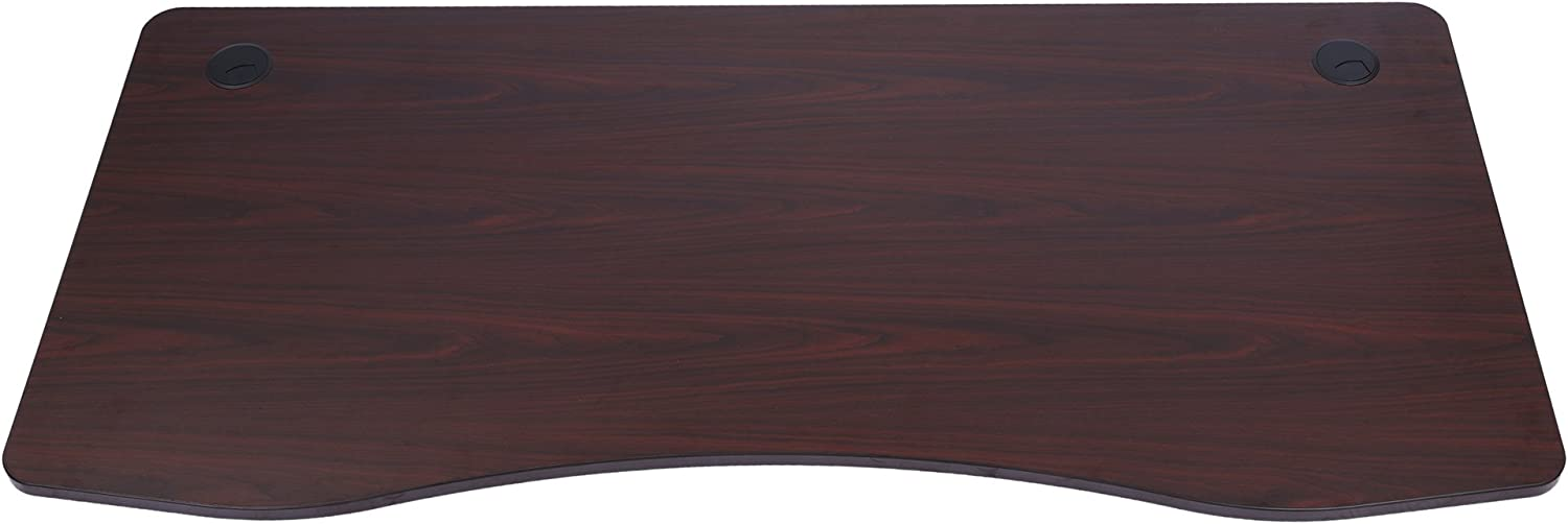 Sunon Laminate Table Top Only Executive Office Desk Top Wood Table Top for Height Adjustable Electric Standing Desk Frame (63x29.5 Table Top, Mahogany)