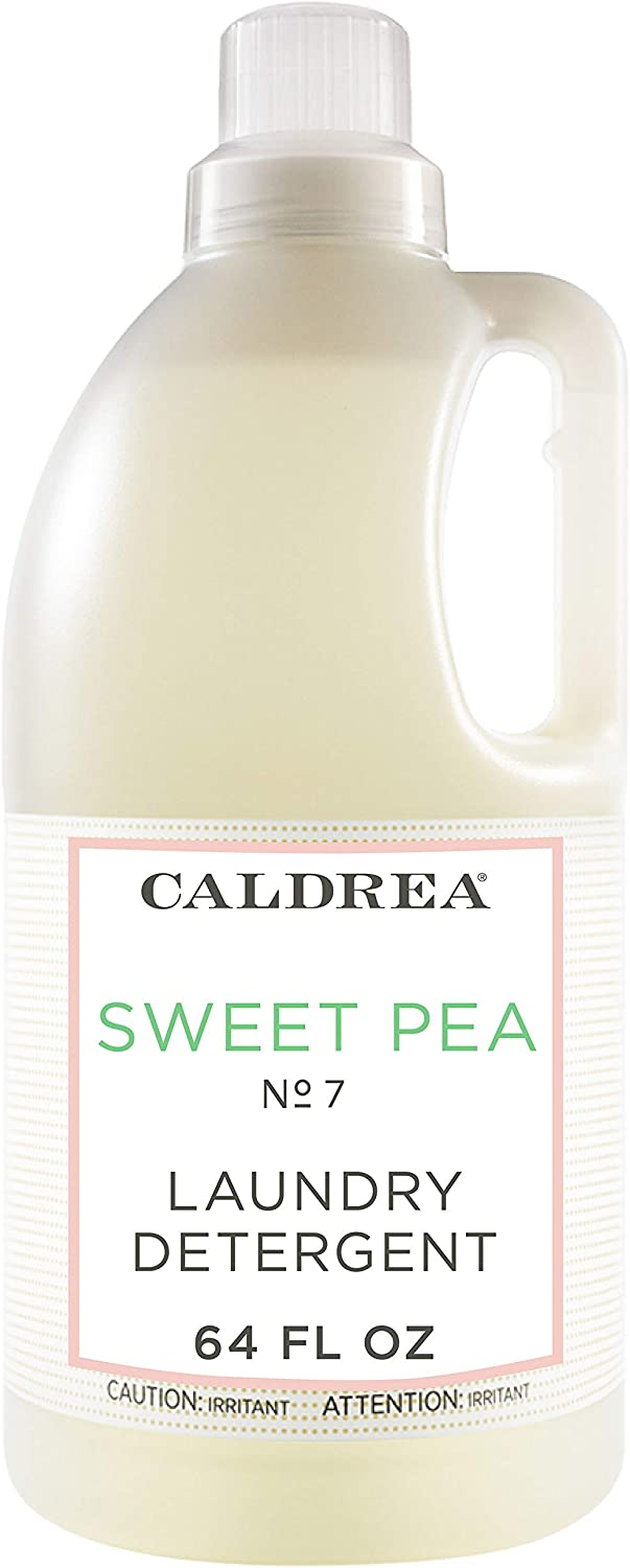Caldrea Laundry Detergent, Sweet Pea, 64 oz
