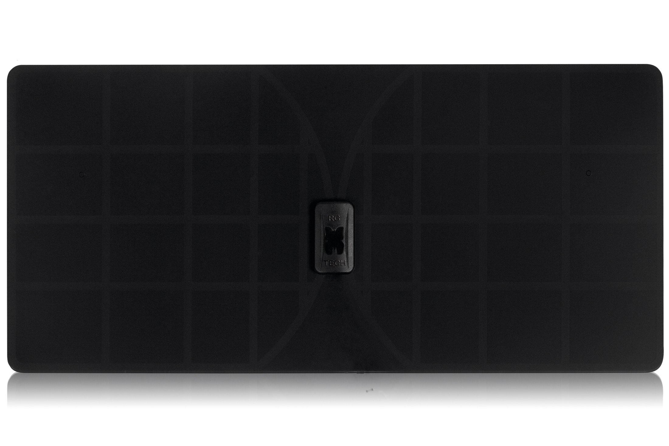 RGTech Monarch 50 Black Flat Paper Thin Indoor HDTV Antenna - 50 Mile Range Multidirectional Reception, UWB Technology and 4G Filter for Maximum UHF/VHF/FM/USB TV Tuner/DVB-T/DAB Radio Reception