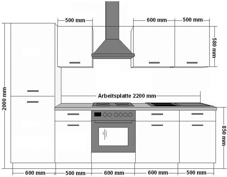 Küche Chicago 20 cm Küchenzeile Küchenblock Einbauküche in Creme