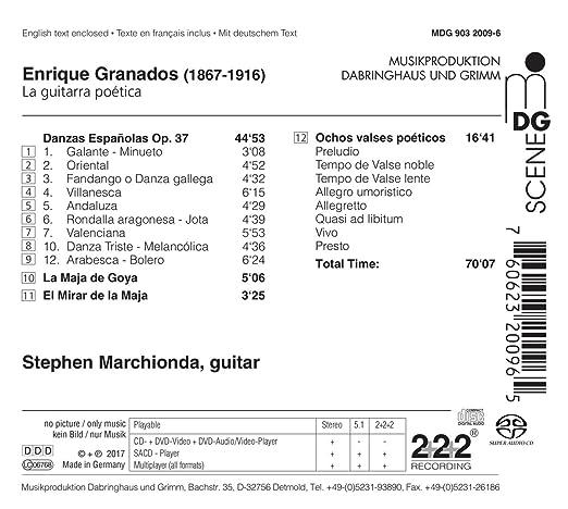 Enrique Granados: La Guitarra Poetica : Marchionda,Stephen: Amazon ...