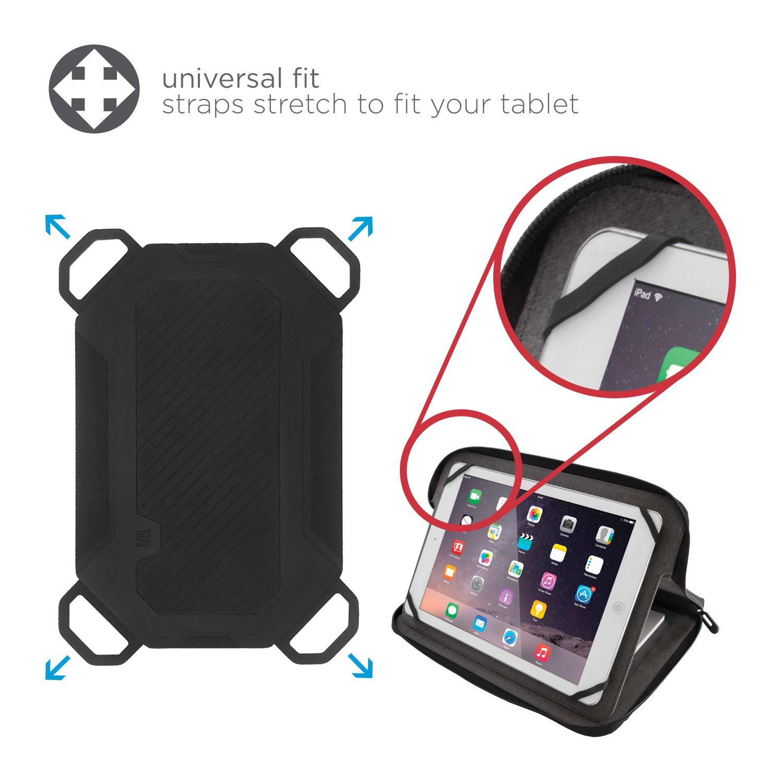 Amazon com lifeworks the blazer universal zipper folio case for 9 10 tablets black orange computers accessories