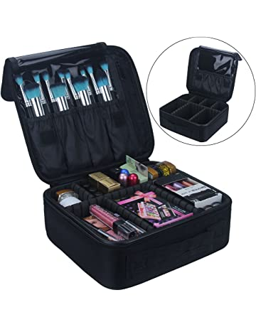 Travel Makeup Train Case Makeup Cosmetic Case Organizer Portable Artist  Storage Bag 10.3   with 218f119645235