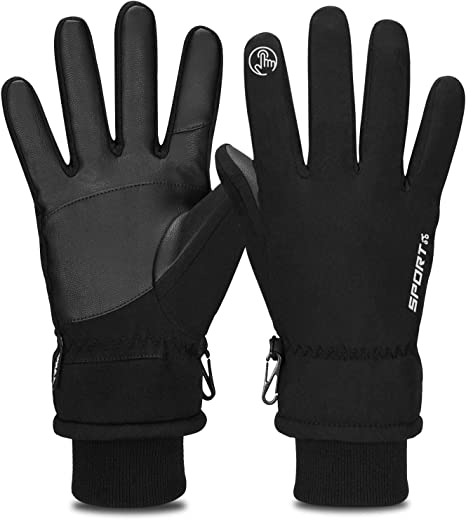 Winter Warm Thermal Full Finger Waterproof Gloves Cycling Anti-Skid Touch Screen