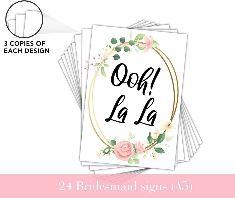 Ideal f/ür Brautkleid Einkaufsspa/ß mit Ihren Brautjungfern 25 St/ück Sagen Sie Ja zu den Kleid Requisiten PureRejuva Hochzeitskleid Einkaufsschilder Paddel