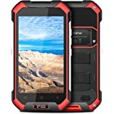 Rugged Smartphone, Blackview BV6000S Unlocked Mobile Phone, 4400mAh Big Battery, Compass + GPS + NFC, IP68 Waterproof Shockproof, Dustproof, 4.7 inch HD IPS Touch Screen, 4G + Bluetooth + Wifi, 7.0 Android Smartphone - Red
