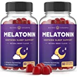 (2-Pack) Melatonin Gummies for Kids & Adults - Sleep Aid Gummy Vitamins - 2.5mg, 5mg or 10mg Dose - Vegan Natural Strawberry