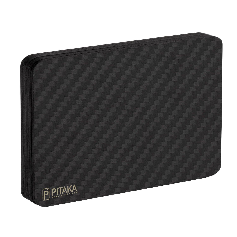 PITAKA Magwallet,Minimalist Slim Carbon Fiber Modular Card Holder RFID Blocking Wallet