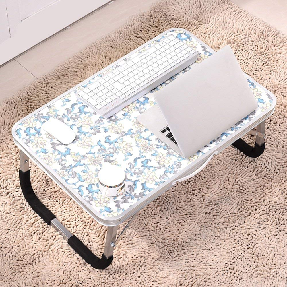 GUI Table-Aluminum Alloy Foldable Laptop Tables Simple Bed with Table Learning Small Desk,5