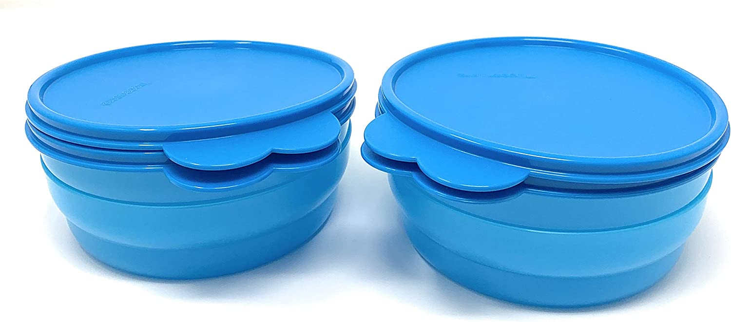 Tupperware Microwave Safe Cereal Bowls /& Seals Set Impressions 2014 Colors New