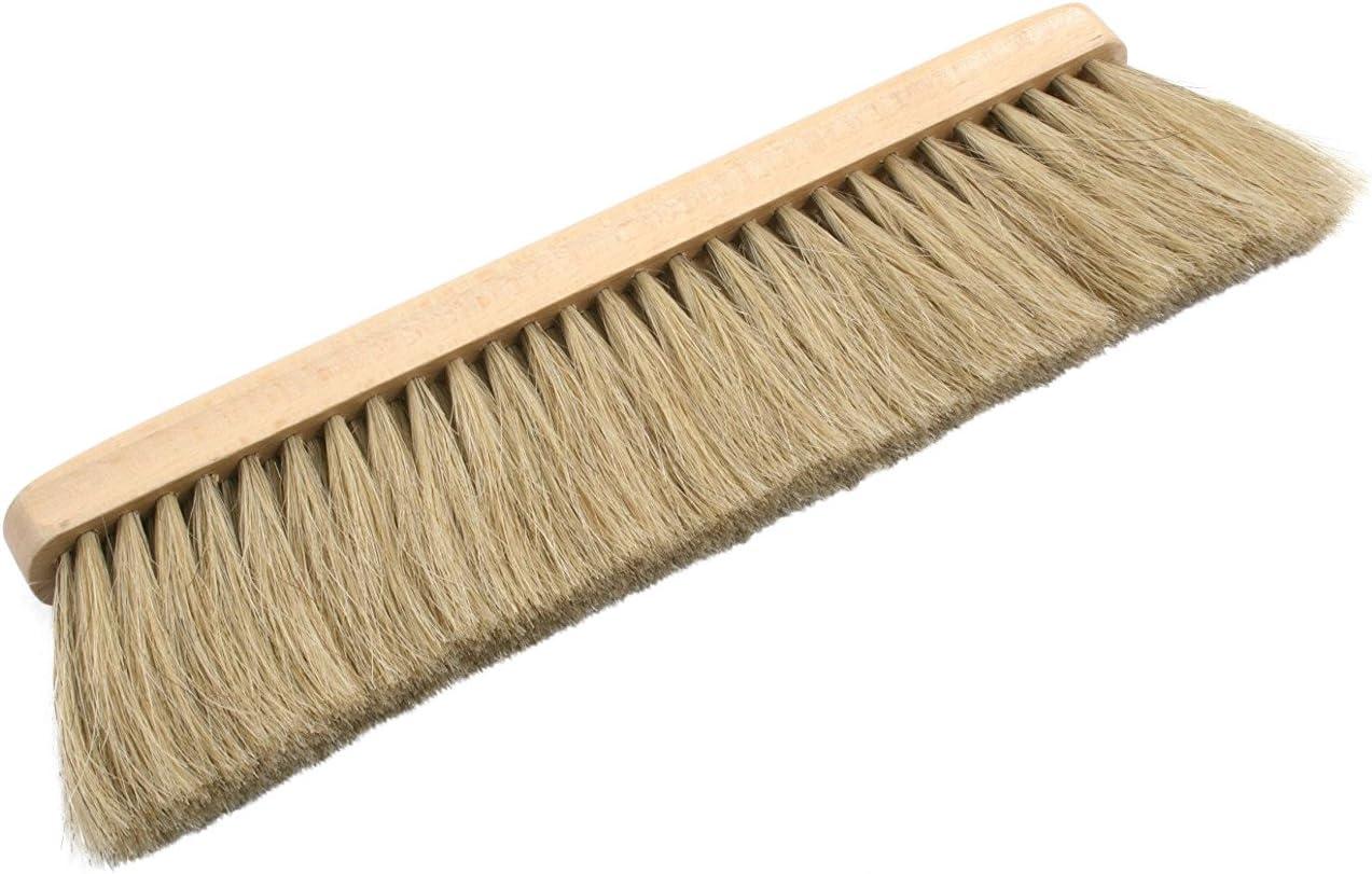 claro o oscuro Escoba con cuerpo de madera y cerdas naturales de crin Limpiado.de