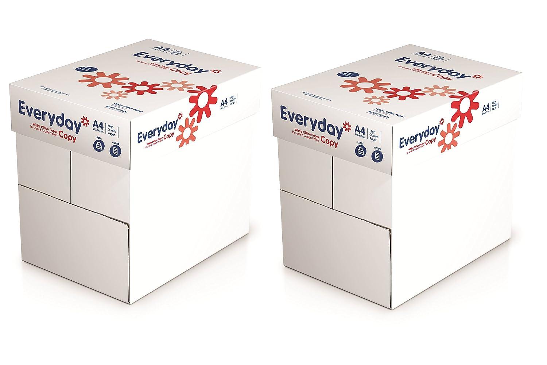 2x Box Everyday/Risma di carta formato A4 8/gs 70 g//mq 10x Reams 5,000 Sheets