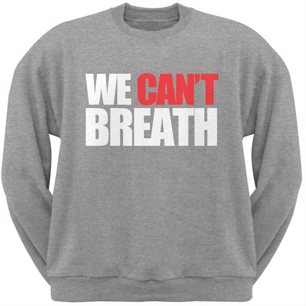 Old Glory We Cant Breathe Heather Grey Adult Crew Neck Sweatshirt