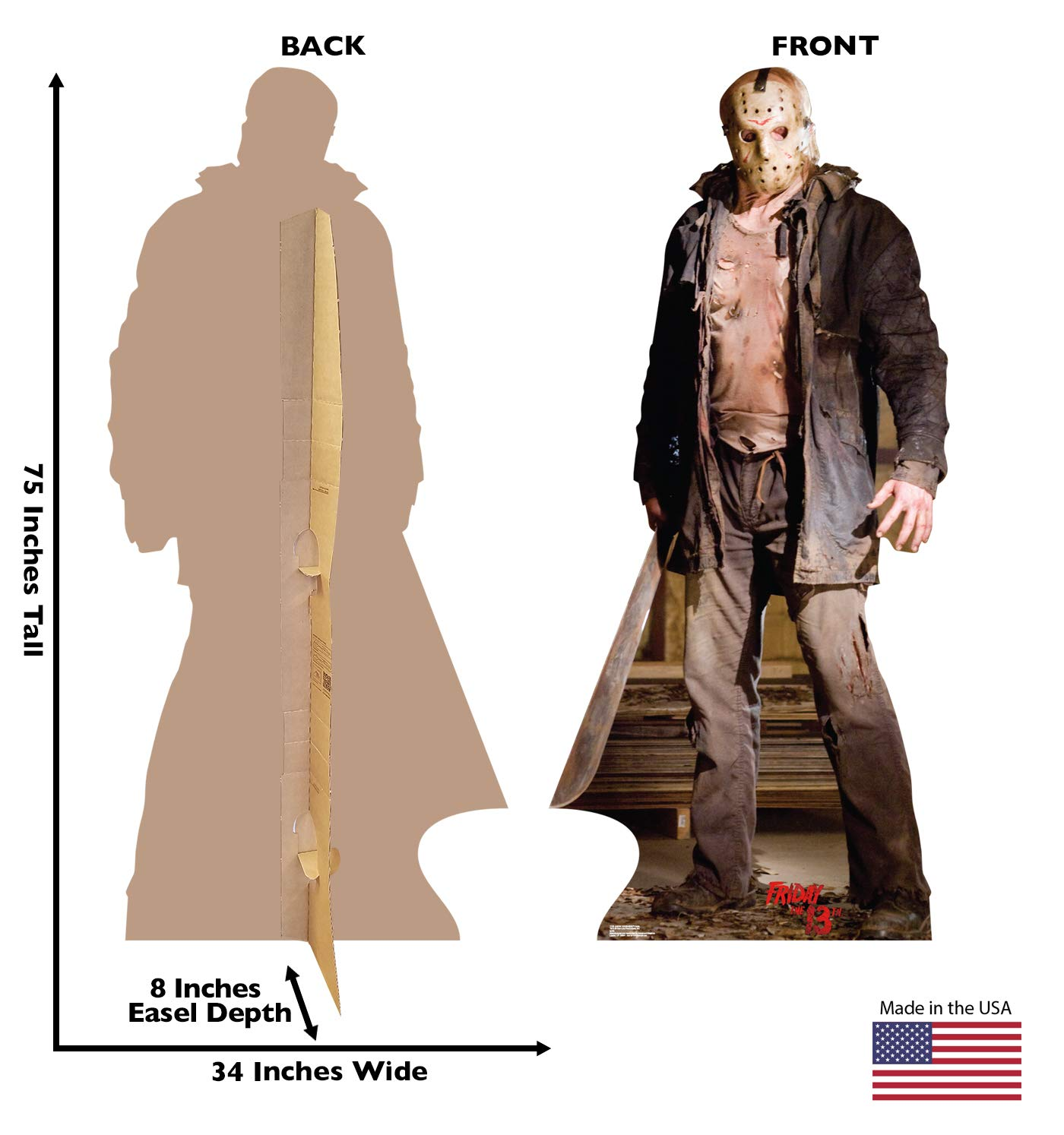 Friday the 13th 2009 Film 1724 Advanced Graphics Jason Voorhees Dark Life Size Cardboard Cutout Standup