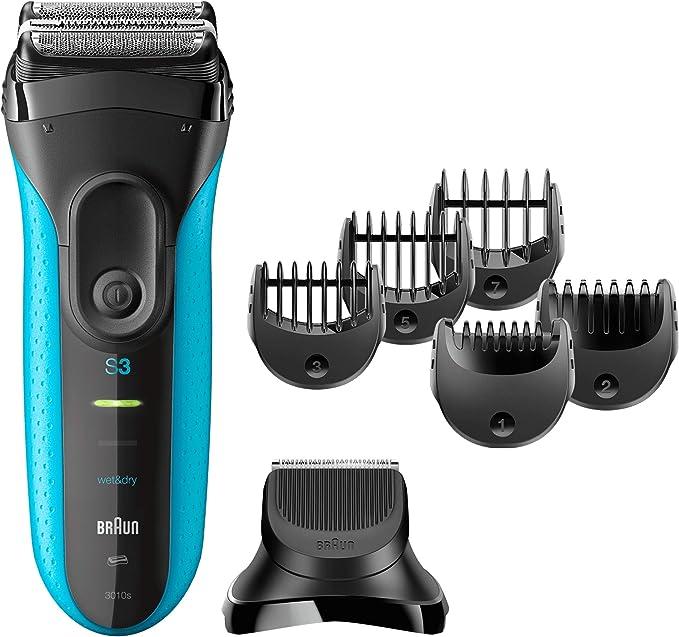 Braun Series 3 Shave&Style 3010BT - Afeitadora (Máquina de Afeitar de láminas, Negro, Azul, LED, Batería, Níquel-Metal hidruro (NiMH), 45 min): Amazon.es: Informática
