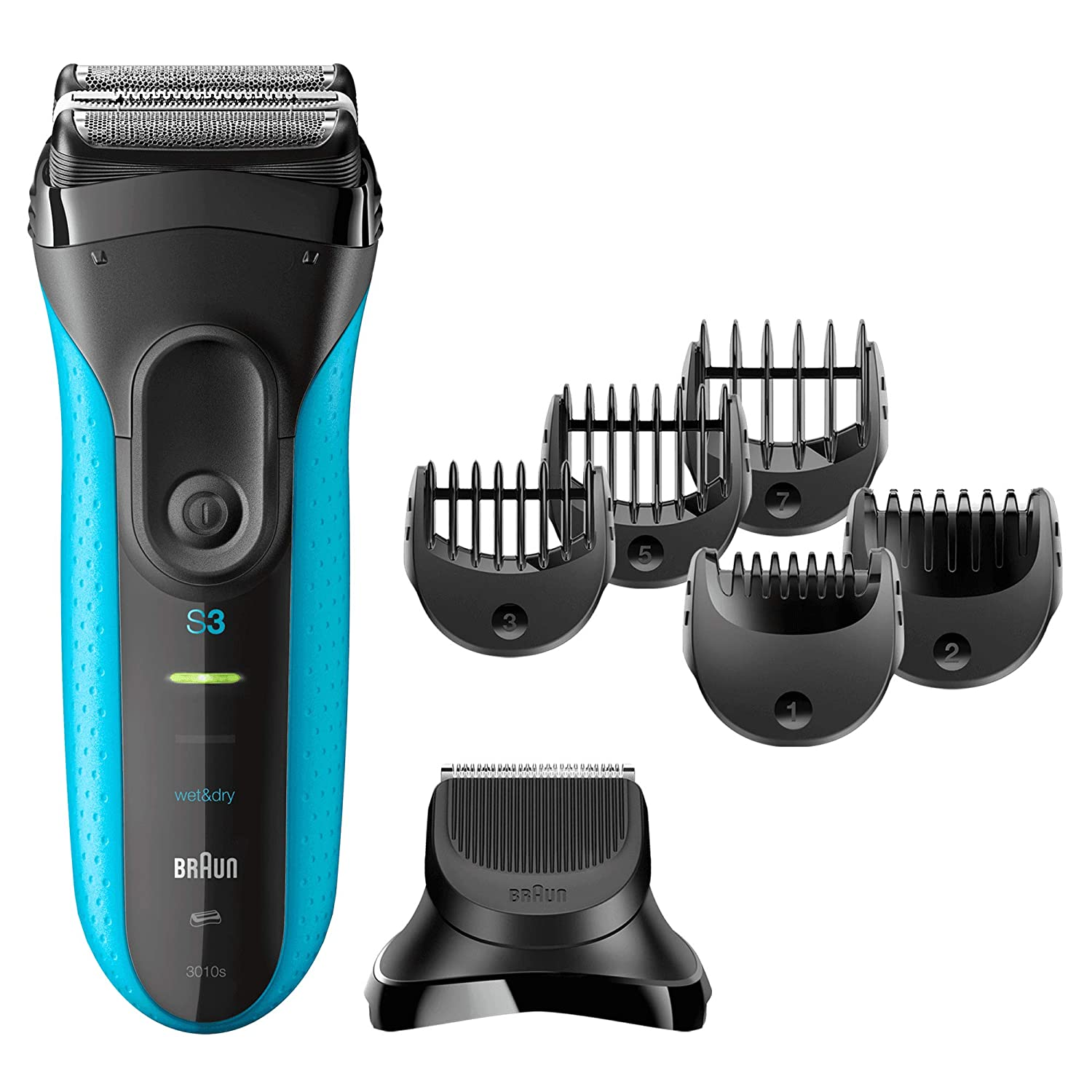 Braun Series 3 3010BT 3-in-1 Electric Wet and Dry Shaver + Trimmer