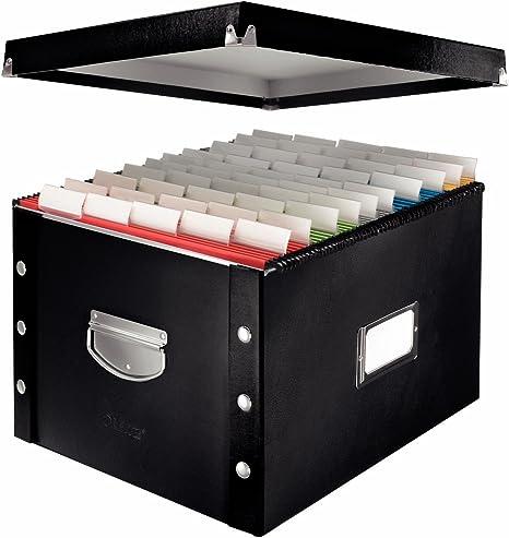 Leitz SnapnStore 60670095 - Caja de cartón Duro para Carpetas Colgantes, Color Negro: Amazon.es: Informática