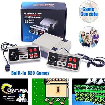 ZINUY-HH PIug Play Classic Game PIug Play Classic Game 620 Game Games Video Console System, Games Console Play: Toys & Games