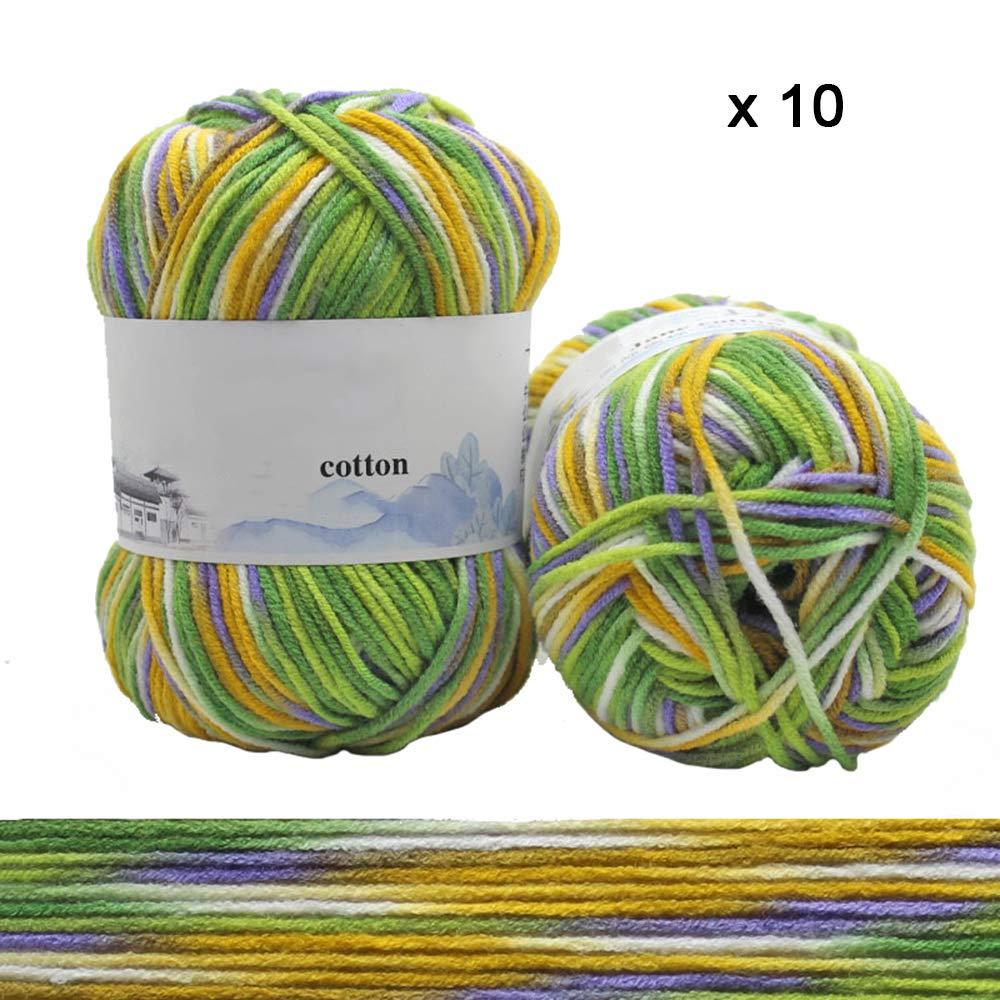 20本のskeinsのセットsoft Yarn Kaleidoscope Baby Yarn Medium Chunky Colorful Yarn,D B07KM7ZLYH D
