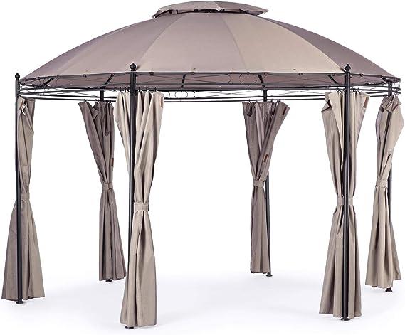 ArredinItaly - Cenador redondo, diámetro 3, 5 m, con lonas ...