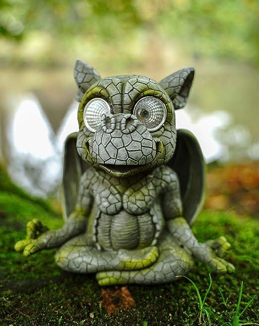 Udo Schmidt GmbH & Co. Figura solar de dragón de jardín con ojos solares LED, 17 cm, figura de dragón, figura de jardín, suerte: Amazon.es: Hogar