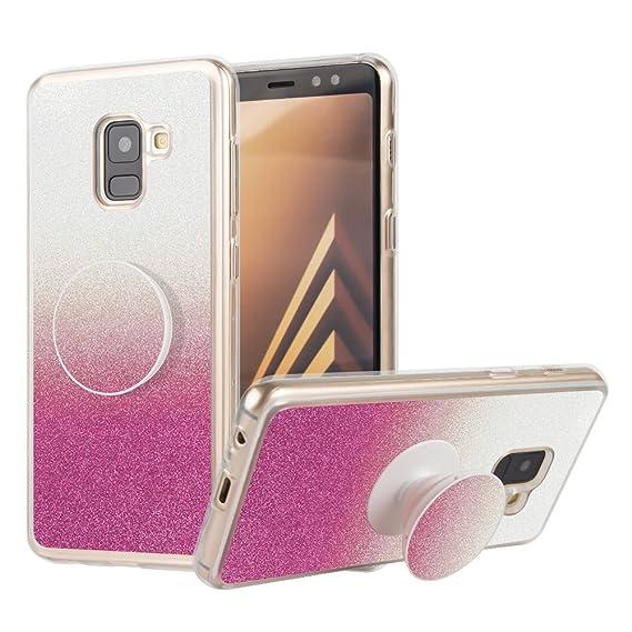size 40 1a0a3 611d7 Samsung Galaxy A8 2018 Case, Galaxy A5 2018 Case, Bling Glitter Case Ultra  Slim Fit Soft TPU Phone Back Case Cover for Samsung Galaxy A5/A8 2018 - ...