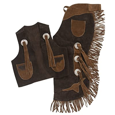 Tough-1 Youth Vest & Chap Set with Longhorns: Toys & Games