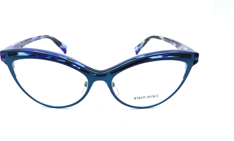 c564bcb5f67 Amazon.com  Alain Mikli Rx Eyeglasses Frames A03072 003 54x16 Turquoise    Blue Havana Italy  Clothing