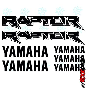 Yamaha RAPTOR Set 30x20 Cm Aufkleber Sticker Tuning Bike Motorrad Sponsor Logos