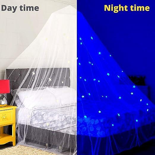 Baldacchino Glow In The Dark Per Letto Per Bambini O Culla Tenda Gioco Zanzariera Grande Con Stelle Luminose Baldacchini Com Prima Infanzia