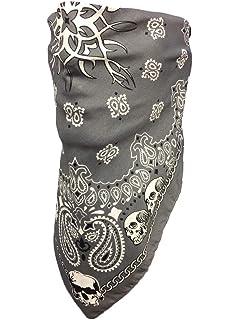 Skull Face Bandana Triangle Half Style Costume Accessory Biker Wear Bandanna fnt
