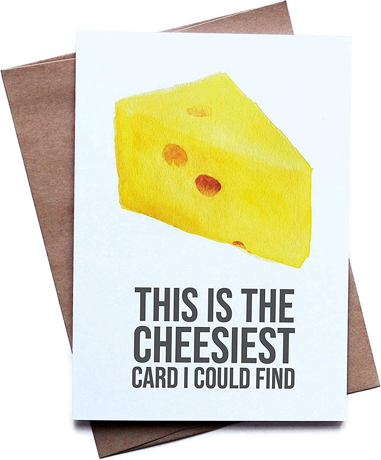 DKISEE Greeting Card for Dad Mom, Cheesy Food Pun Greeting Card for Him Her I Love You Birthday Anniversary Boyfriend Girlfriend Husband Wife Macaroni and Cheese 7x10 Inch