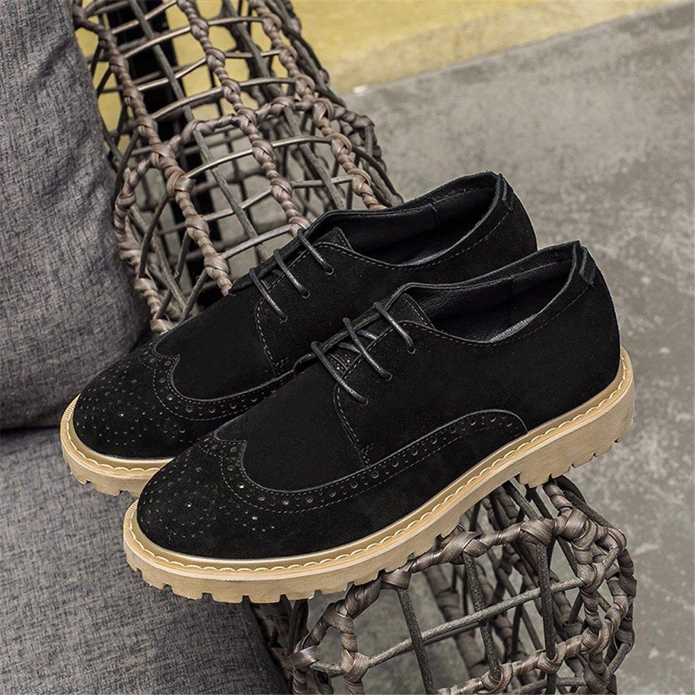 GLSHI Zapatos casuales para hombre Primavera Otoño Trabajo formal Zapatos con cordones Trekking Confort Transpirable (Color : Do, tamaño : 39) 39 Do Do