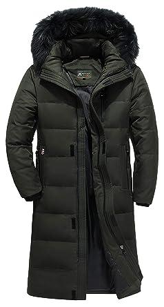 best cheap 9152e 8370a DHYZZ Herren Winter Lang Jacke Dick Warm Kapuze Daunen Parka ...