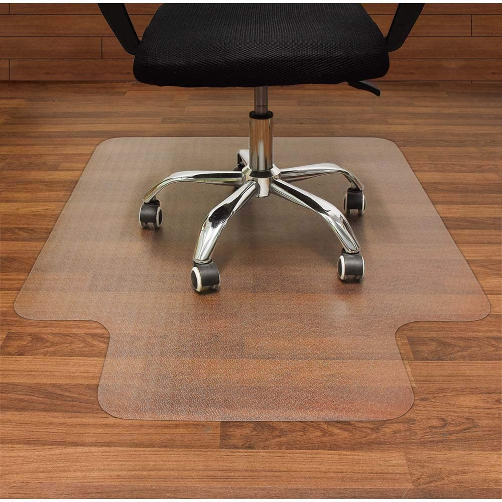 Amazon Com Aibob Office Chair Mat For Hardwood Floor 36 X 48 Inches Easy Glide For Chairs Flat Without Curling Floor Mats For Computer Desk Office Products