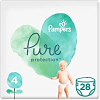 Pampers Pure Protection Diapers, Size 4, 9-14kg, 28 Count